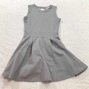 Amour vert Gray fit flare sleeveless skater dress